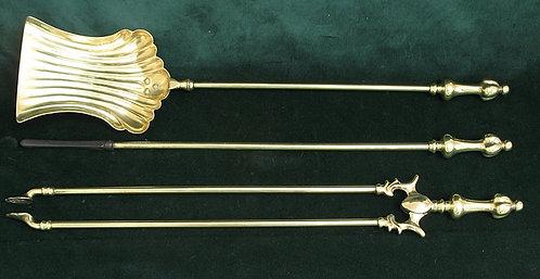 Victorian Solid Brass Companion Set 1890