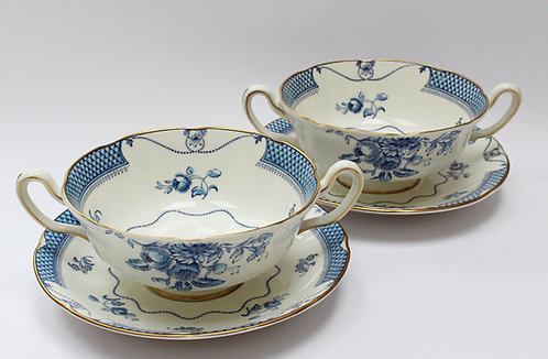 Pair of Royal Doulton soup cups
