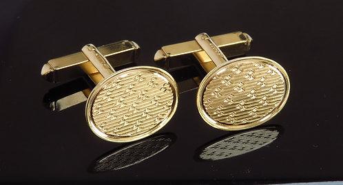 Solid 9ct Gold Cufflinks C1977
