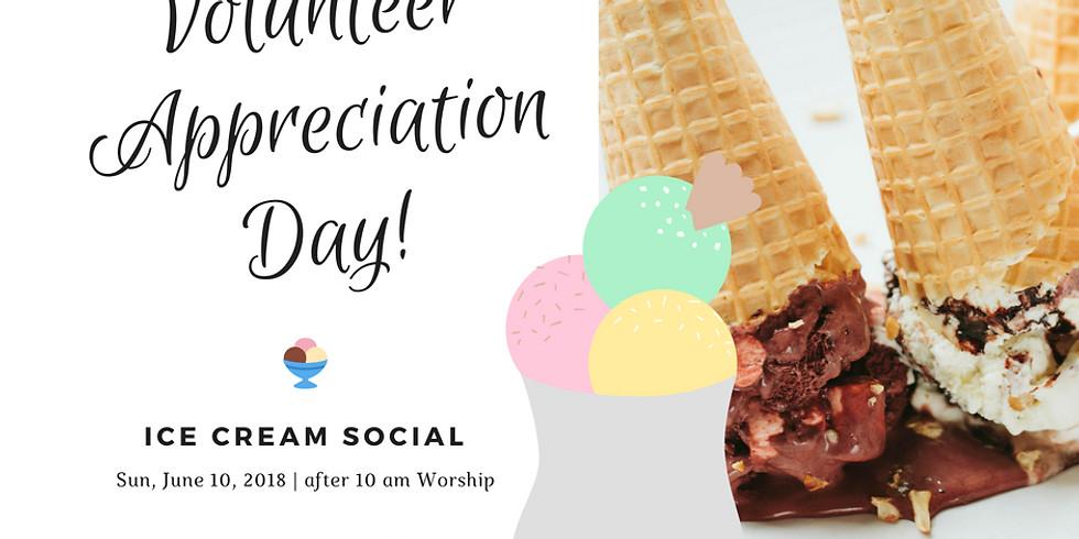 Volunteer Appreciation Day w/Ice Cream Social
