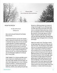 Newsletter  First Presbyterian Church of