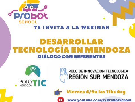 """Webinar: """"Desarrollar tecnología en Mendoza"""""""