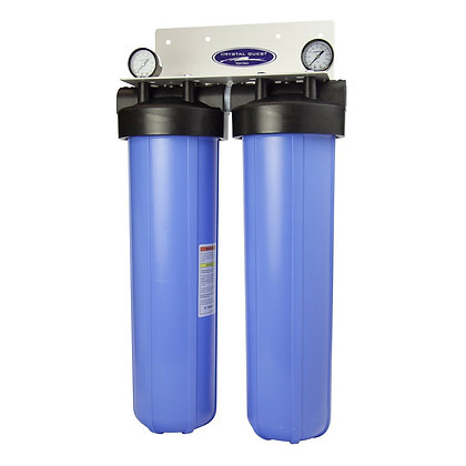 Whole House Compact Water Filter Big Blue Double SMART Series (6-8 GPM)