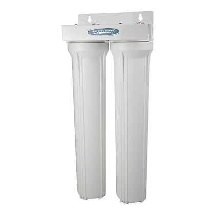 """SMART Series Compact Double Water Filter Whole House System (2.5"""" x 20"""")"""