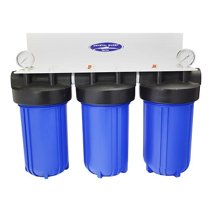 Whole House Compact Water Filter Blue Triple SMART Series (3-6 GPM)