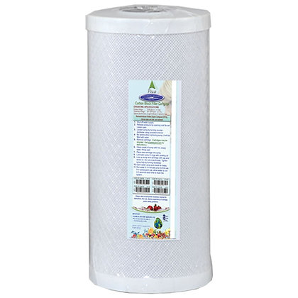 """Coconut Based 5-Micron Carbon Block Filter Cartridge 4-5/8"""" x 9-3/4"""