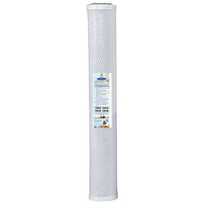 """Coconut Based 5-Micron Carbon Block Filter Cartridge 2-7/8"""" x 20"""