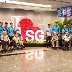 Our resident had an exciting excursion at Changi Airport with the help of our dedicated staff & the support from SCDF, Marine Command