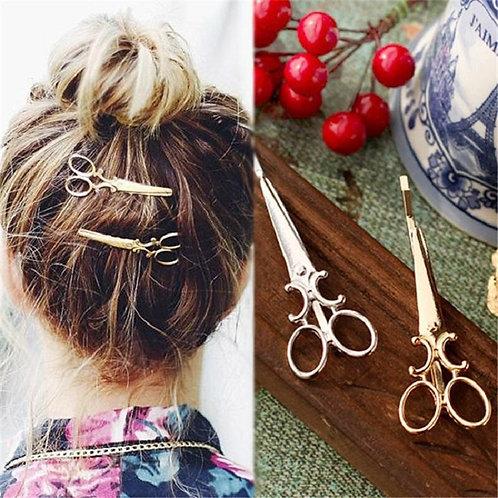 Vintage Mini Scissors Hairpin