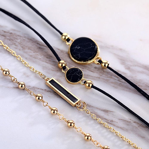 Thyella Onyx Stackable Bracelet