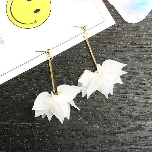 Acrylic Petal Drop Dangle Earrings