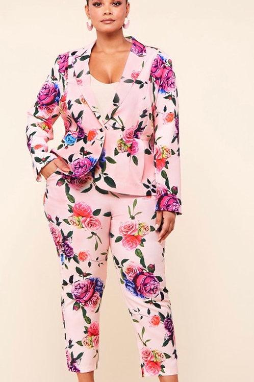 Floral Escape Two Piece Suit
