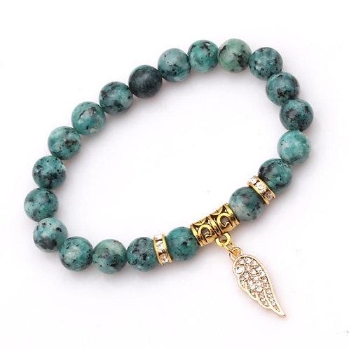 Natural Beads Charm Bracelet