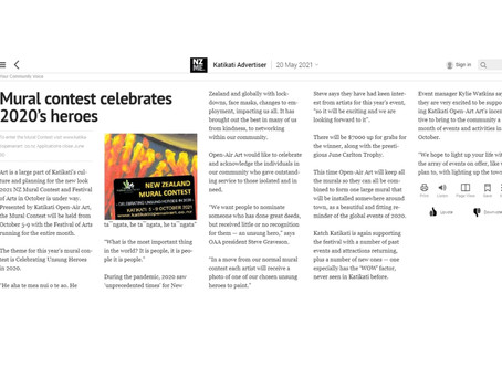 NZ Mural Contest Celebrates 2020's heroes!