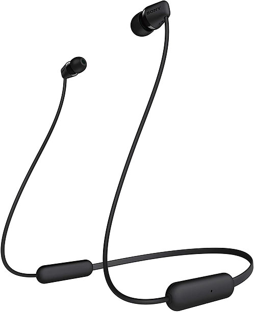 Sony WI-C200 Wireless In-Ear Headphones with 15 Hours Battery Life, Quick Charge