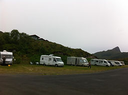 Unterkunft, Camping, Wohnwagen, Hütten,