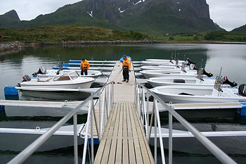 Camping, båtutleie, fiske, camping for funksjonshemmede, båt tilpasset rullestol