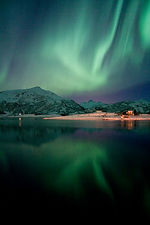 The Arctic Light Northern Lights. Camping Sites in Norway, Campingplasser i Norge, Campingplätze in Norwegen