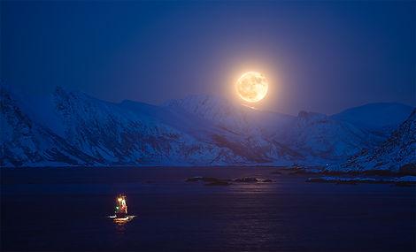 Månen The Moon Arktisk lys