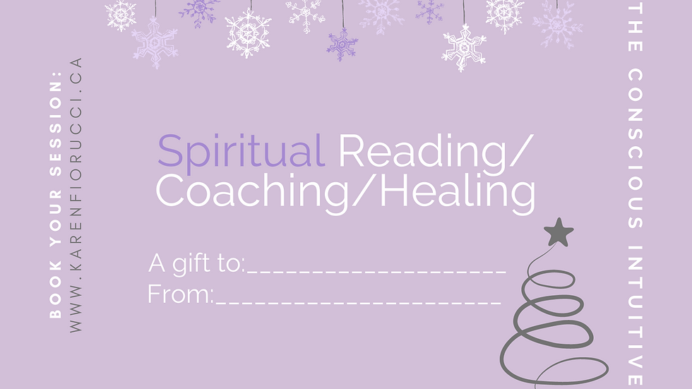Holiday Giving Gift Certificate for a Reading or Healing
