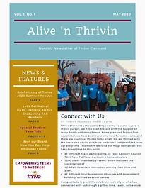 Alive 'n Thrivin Newsletter Front    Pag