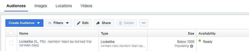 קהלים דומים פייסבוק
