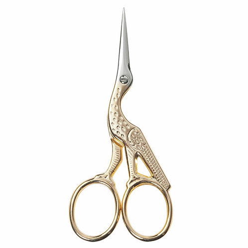 Embroidery Scissors: Stork: Gold: 9cm/Milward