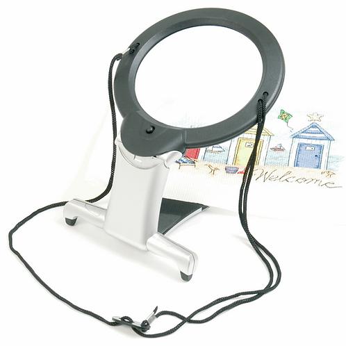 Magnifier: Illuminated: Hands-Free: 2-in-1: LED/PURElite