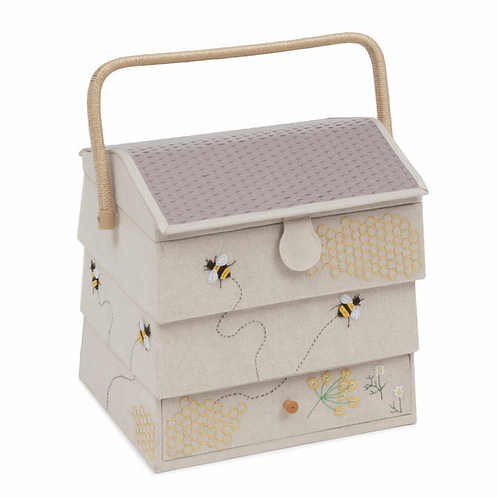 Sewing Box: (XL): Hive with Drawer: Bee