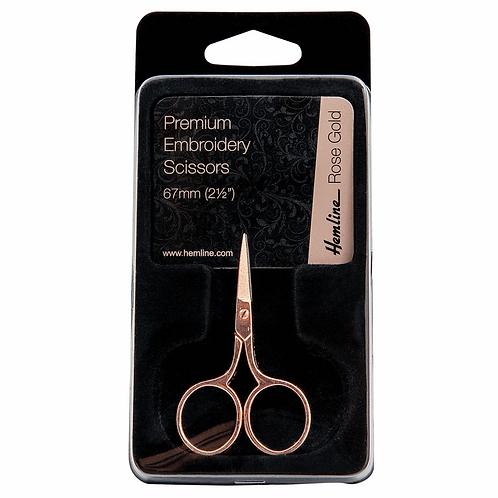 Scissors: Embroidery: 6.7cm/2.5in: Rose Gold/Hemline