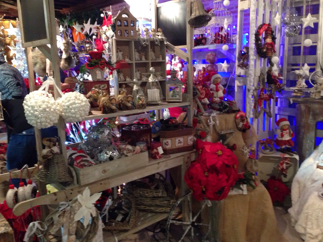 Detalles florales navidad