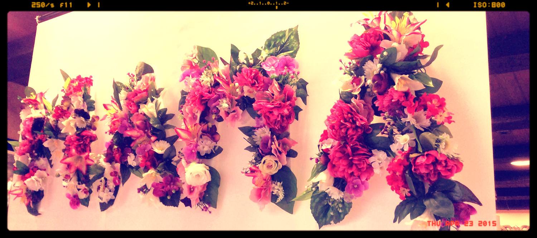 Decoración floral día de la madre