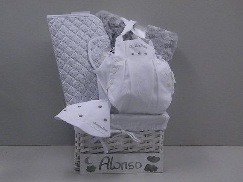Canastillas de nacimiento unisex cesta gris