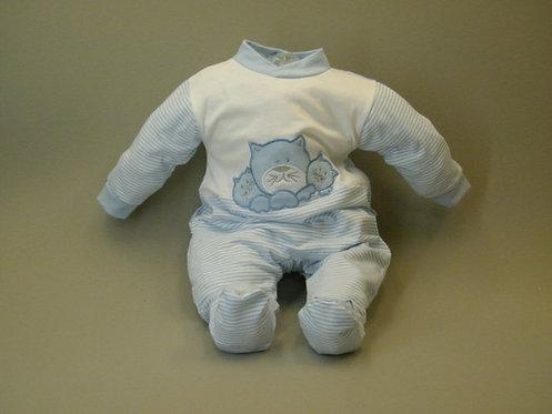 Pijama gato azúl