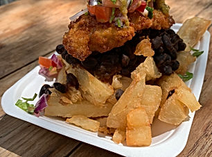 chicken milanesa & cassava fries.JPG