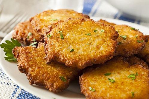 Llapingachos (potato cakes)