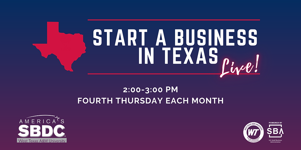 Start a Business in Texas: LIVE!