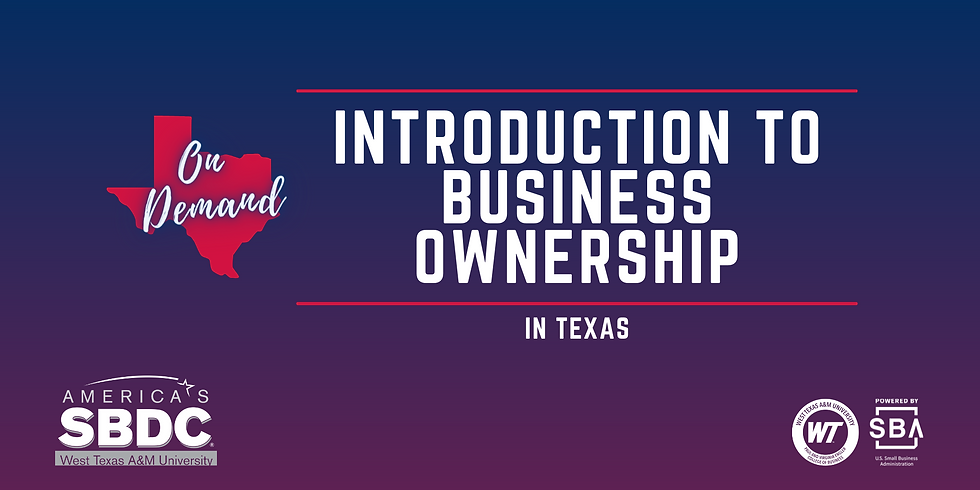 Introduction to Business Ownership - On Demand
