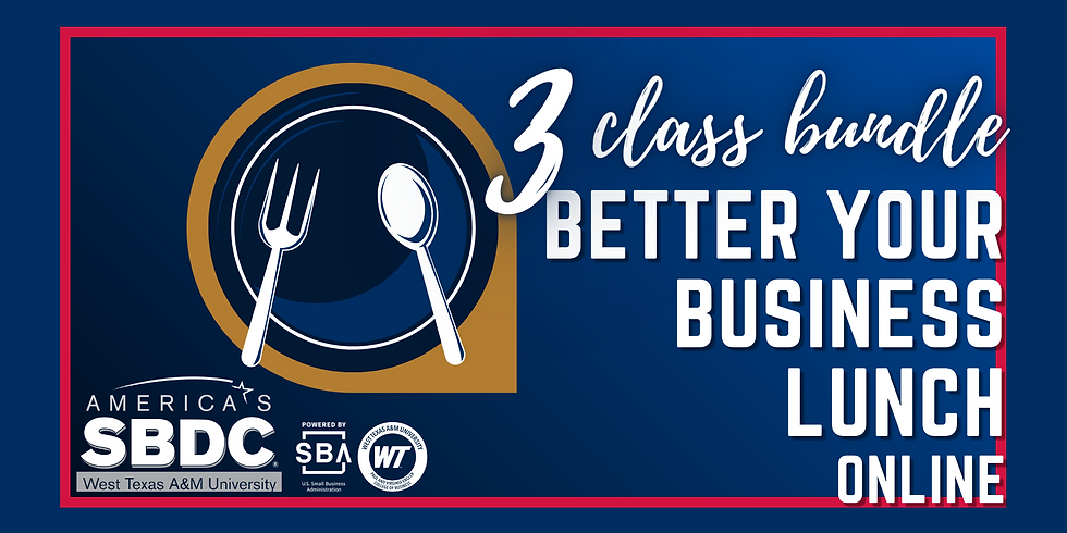 3 class bundle - Better Your Business Lunch Online