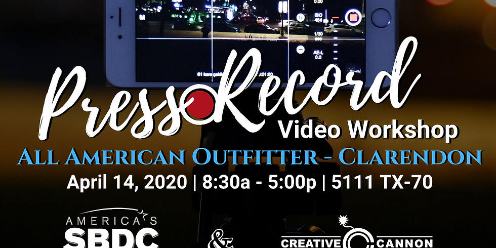 Press Record Video Workshop: Tell your Story - Clarendon