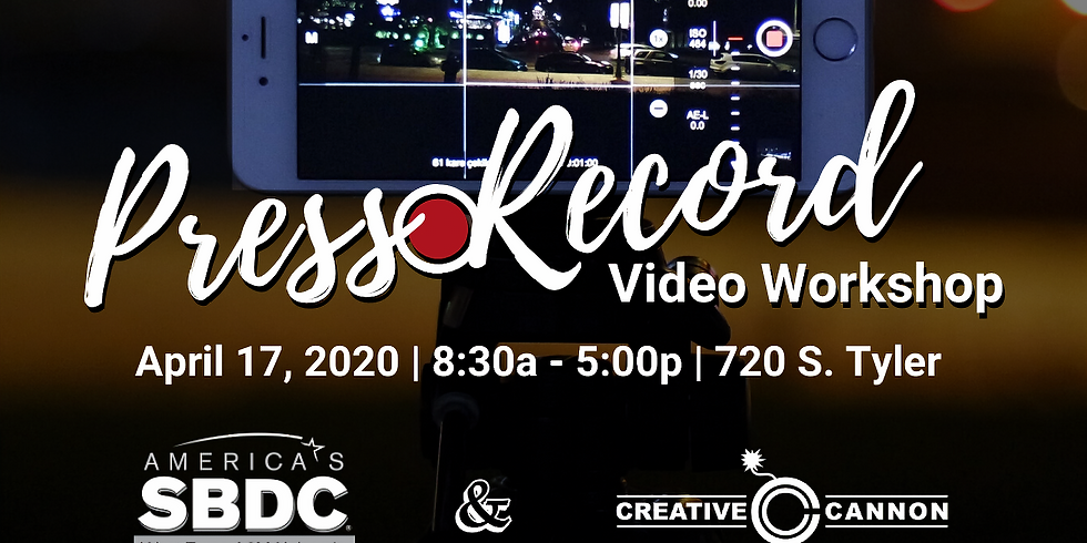 Press Record Video Workshop: Tell your Story