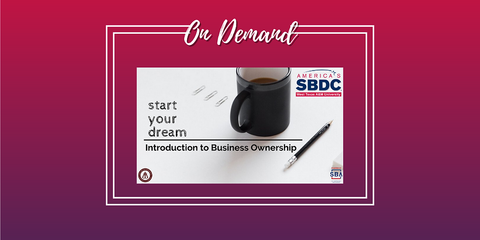 Introduction to Business Ownership - Online