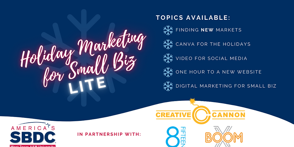 Video for Social Media - Holiday Marketing for Small Business LITE