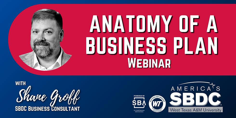 Anatomy of a Business Plan Webinar