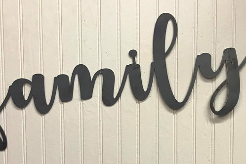 """""""Family"""" Word Sign"""