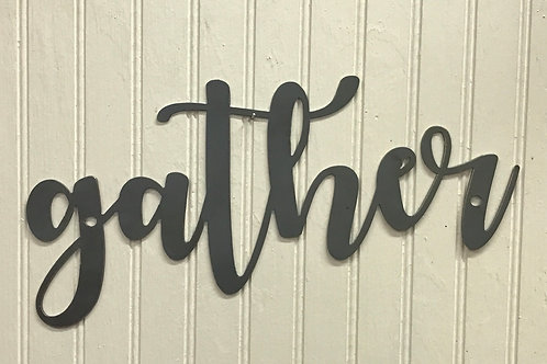 """Gather"" Word Sign"