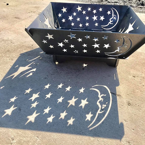 Moon & Stars Collapsible Fire Pit