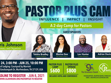 Pastor Plus Camp June 24-25