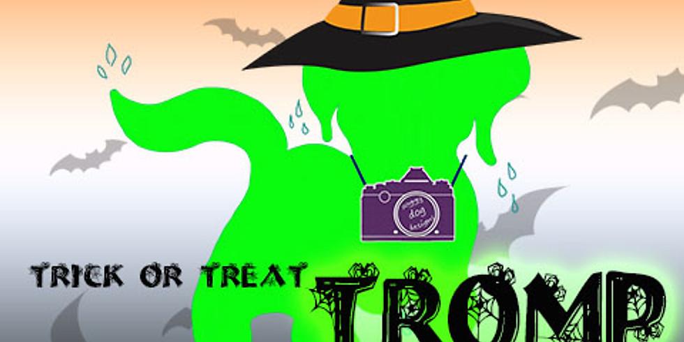soggy dog designs' 12th Annual Trick or Treat TROMP + Food Drive!
