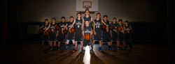 Youth Basketball Team Action